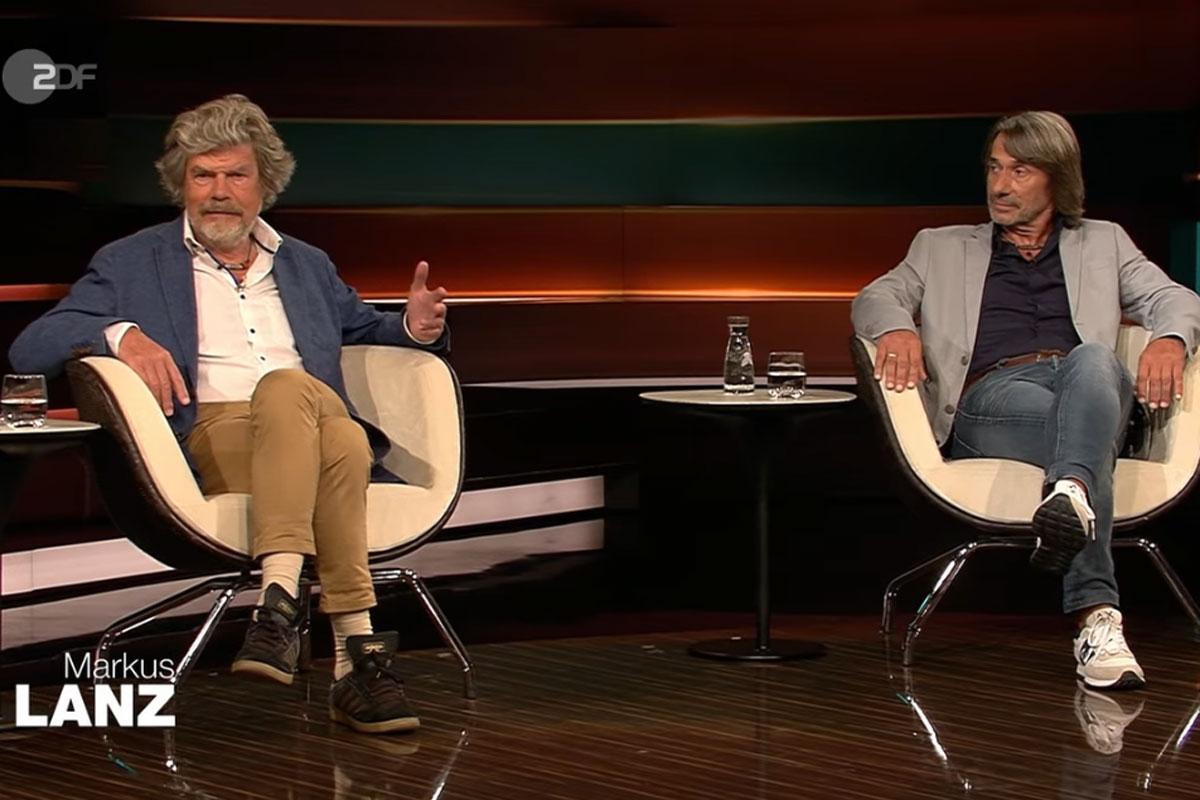 Reinhold Messner und Hubert Messner