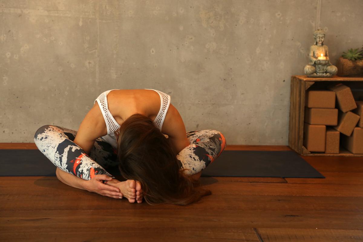 Yogaübung Schmetterling