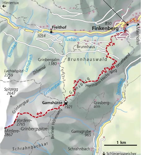 Wanderkarte 5. Etappe Berliner Höhenweg