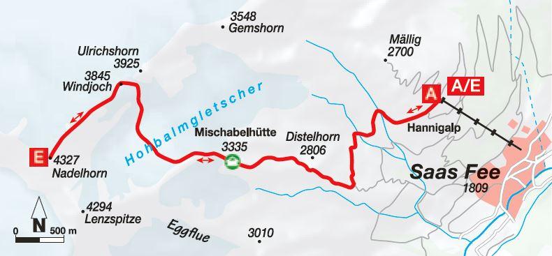 Hochtour Nadelhorn
