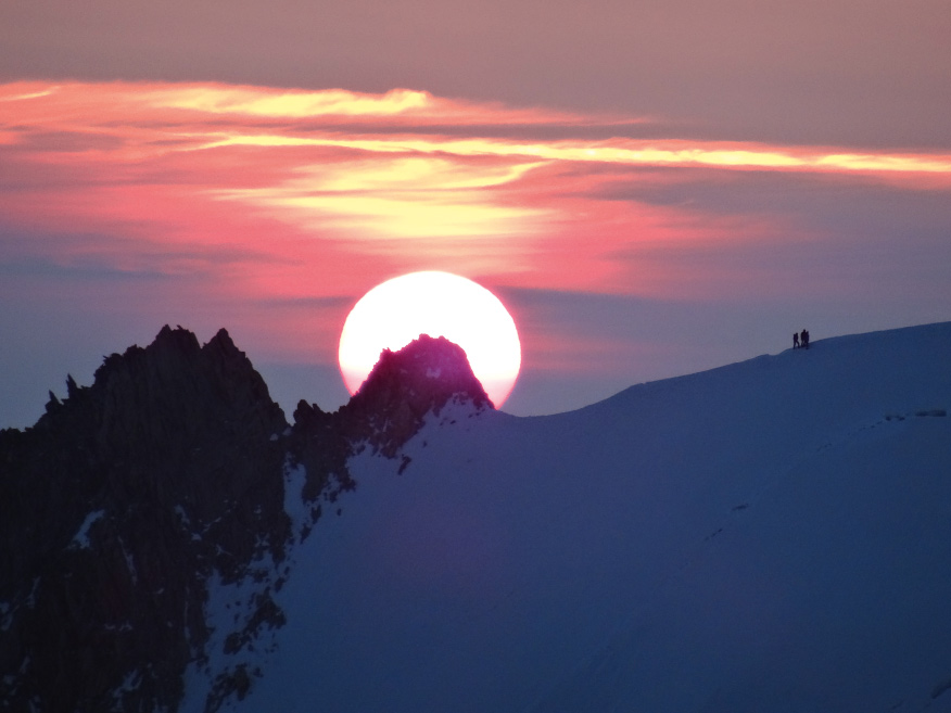 Sonnenuntergang am Mont Blanc
