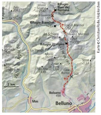 Dolomiten Höhenweg Nr. 1 Etappe 1