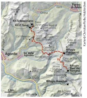 Dolomiten Höhenweg Nr.1 Etappe 2