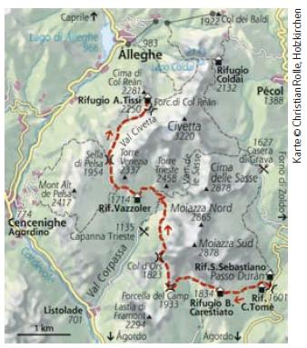 Dolomiten Höhenweg Nr. 1 Etappe 3