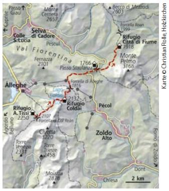 Dolomiten Höhenweg Nr. 1 Etappe 4