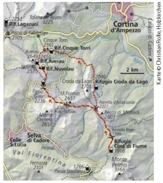Dolomiten Höhenweg Nr. 1 Etappe 5