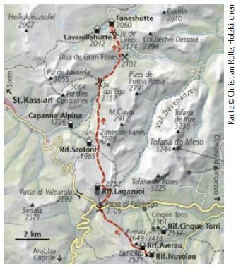 Dolomiten Höhenweg Nr. 1 Etappe 6
