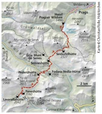 Dolomiten Höhenweg Nr. 1 Etappe 7