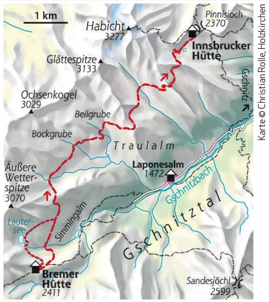 Etappe 6 Stubaier Höhenweg