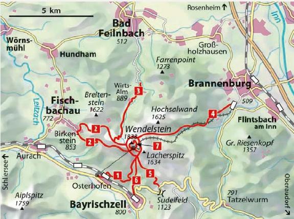 Wanderwege Wendelstein