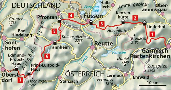Via Alpina von Garmisch nach Oberstdorf