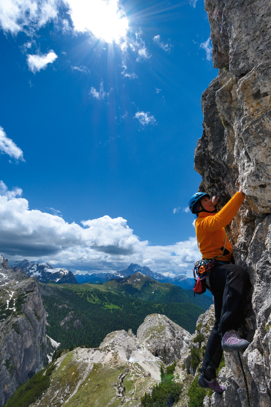 Klettern am Hexenstein Dolomiten