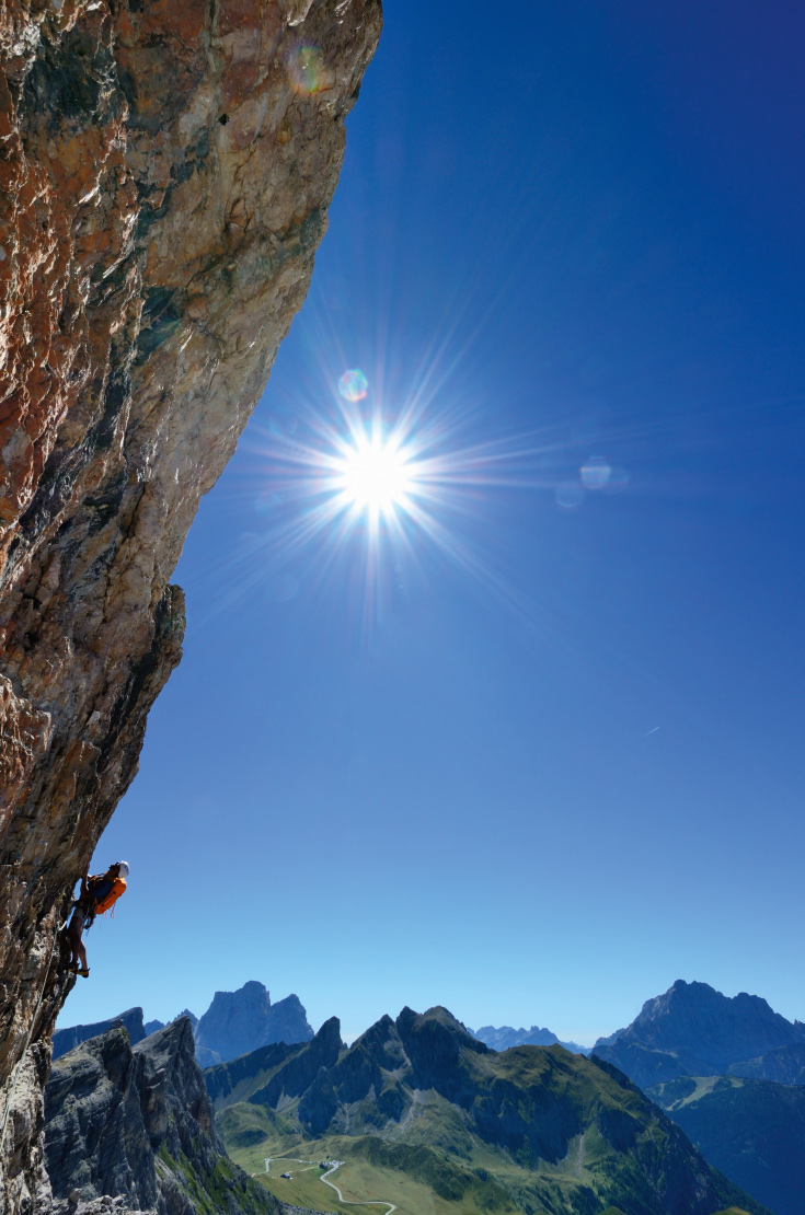 Klettern Alverau Dolomiten