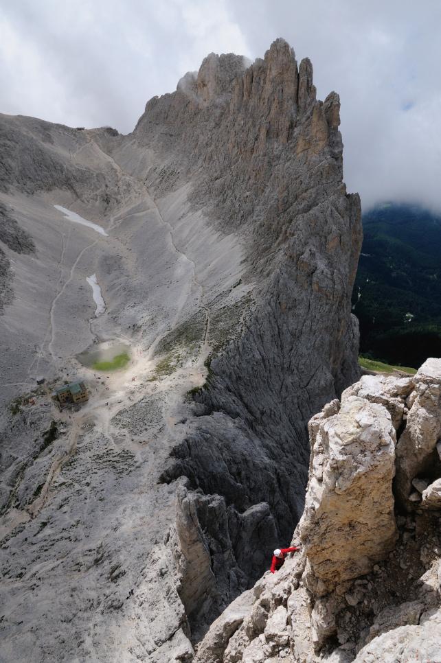 Klettern Delagokante Dolomiten
