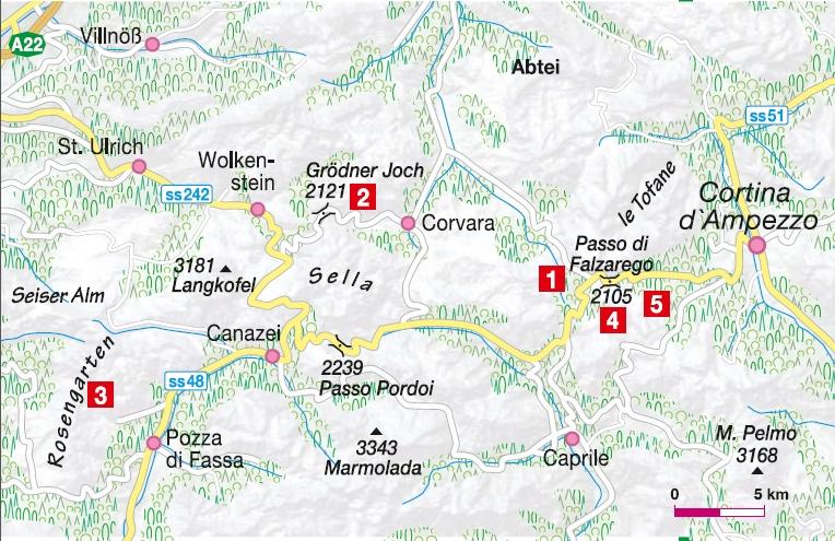 Klettergebiete Dolomiten