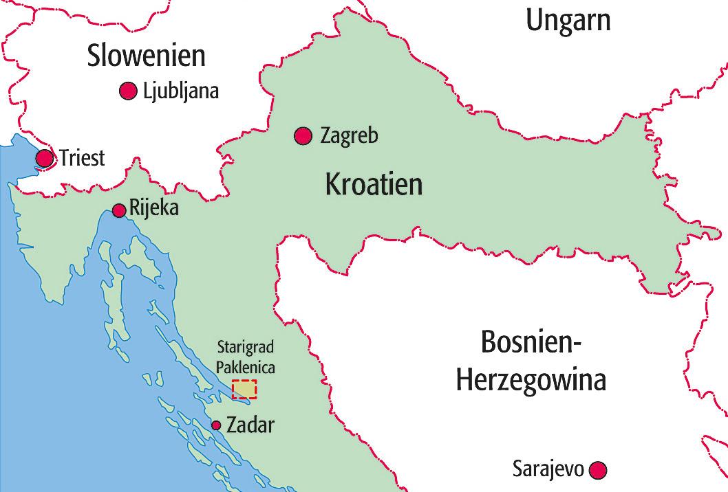 Karte Paklenica Kroatien