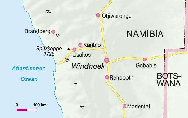Klettergebiet Namibia