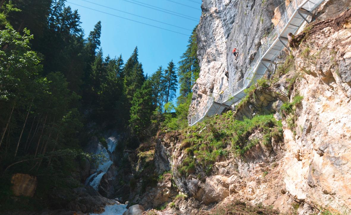Klettersteige Riederklamm