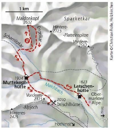 Imster Klettersteig Karte