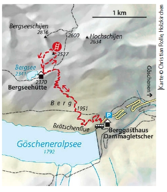 Bergsee klettersteig Karte