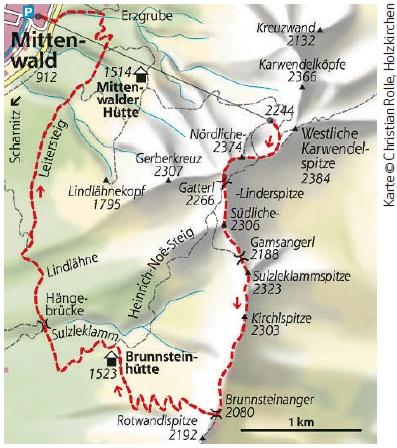 MiIttenwalder Hoehenweg Karte
