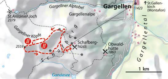 Vaude Schmugglersteig Karte