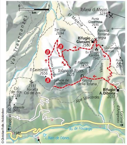 Via Ferrata Lipella Klettersteig Dolomiten