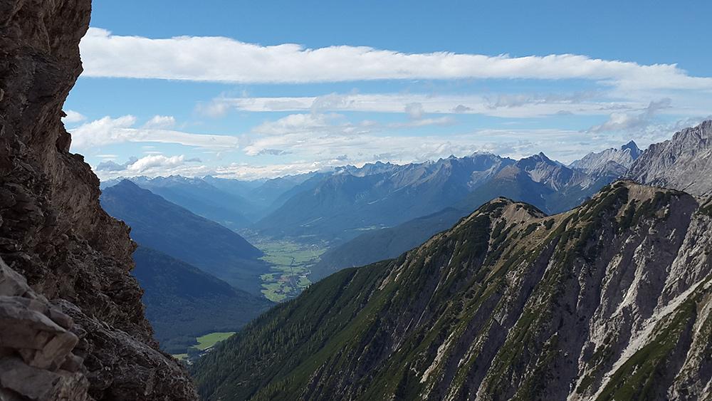 Aussicht Wankspitze Klettersteig