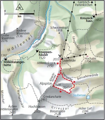 Alpspitz Ferrata Karte