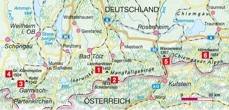 Bergtouren Bayerische Hausberge