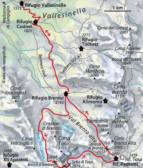 Klettersteig Cima Tosa Brentagruppe
