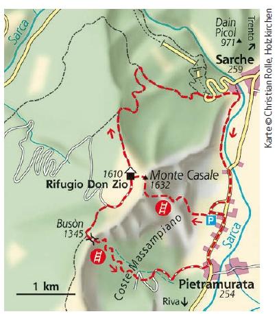 Gardasee Klettersteig Karte