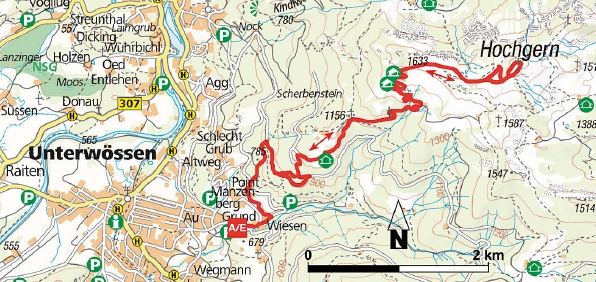 Karte Wanderung Hochgern