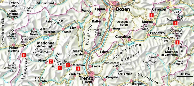 Feinschmecker-Hütten im Trentino