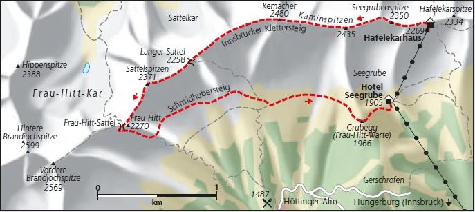 Innsbrucker Klettersteig Karte