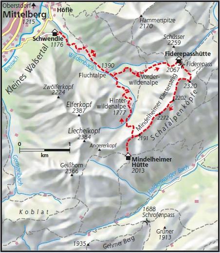Mindelheimer Klettersteig Karte