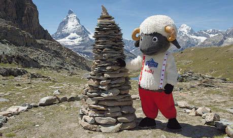 Matterhorn Maskottchen Wolli