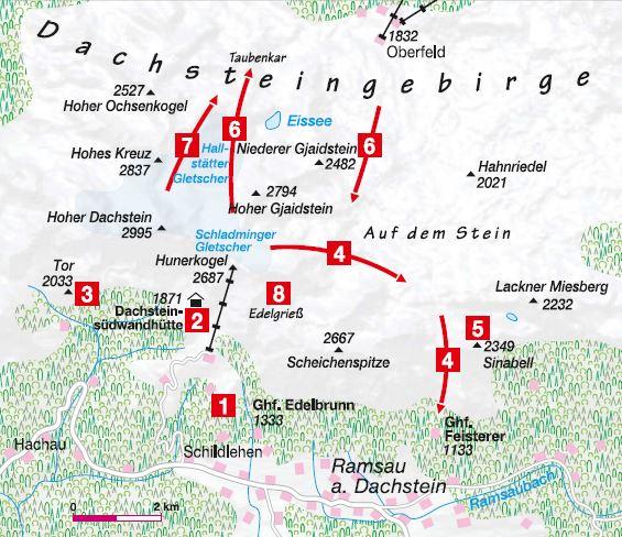Dachstein Karte.8 Skitouren In Der Ramsau Bergsteiger Magazin