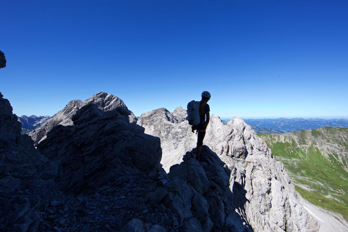 Marchspitze Westgrat Abstieg