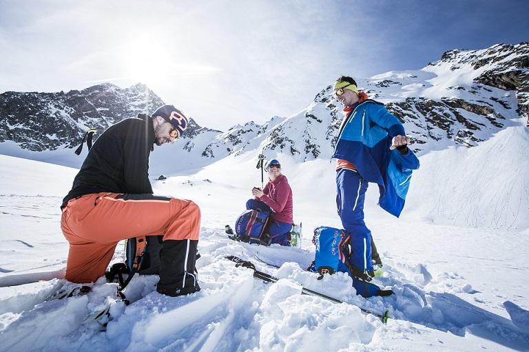 Gruppenmitglieder Skitouren