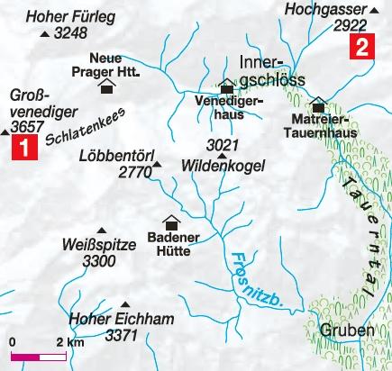 Karte Gschoesstal