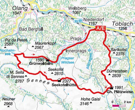 Der Stoneman Hike - Karte