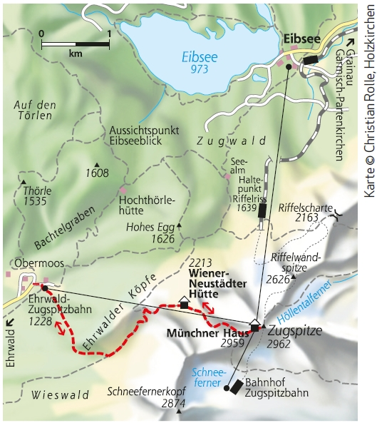 Stopselzieher Zugspitze - Karte