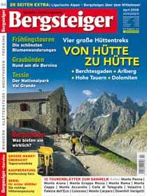 Vier Hüttentrecks in Dolomiten, Berchtesgadener Alpen, Hohen Tauern und Lechquellengebirge.