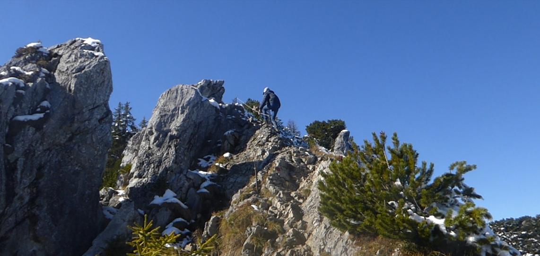 Niklas am Westgrat der Brecherspitz