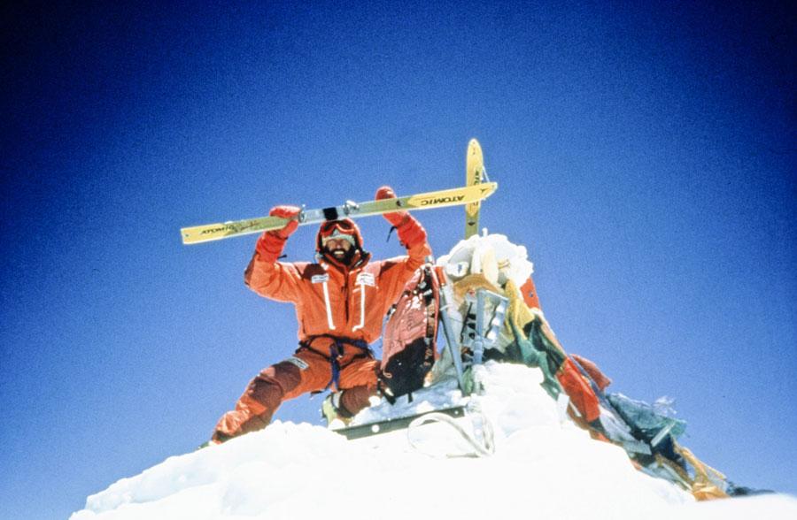 Höher geht's nicht: Kammerlander auf dem Everest-Gipfel