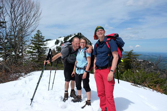Viel Spaß hatten die Teilnehmerinnen und Teilnehmer beim Eddie Bauer Bergsteiger Hike.