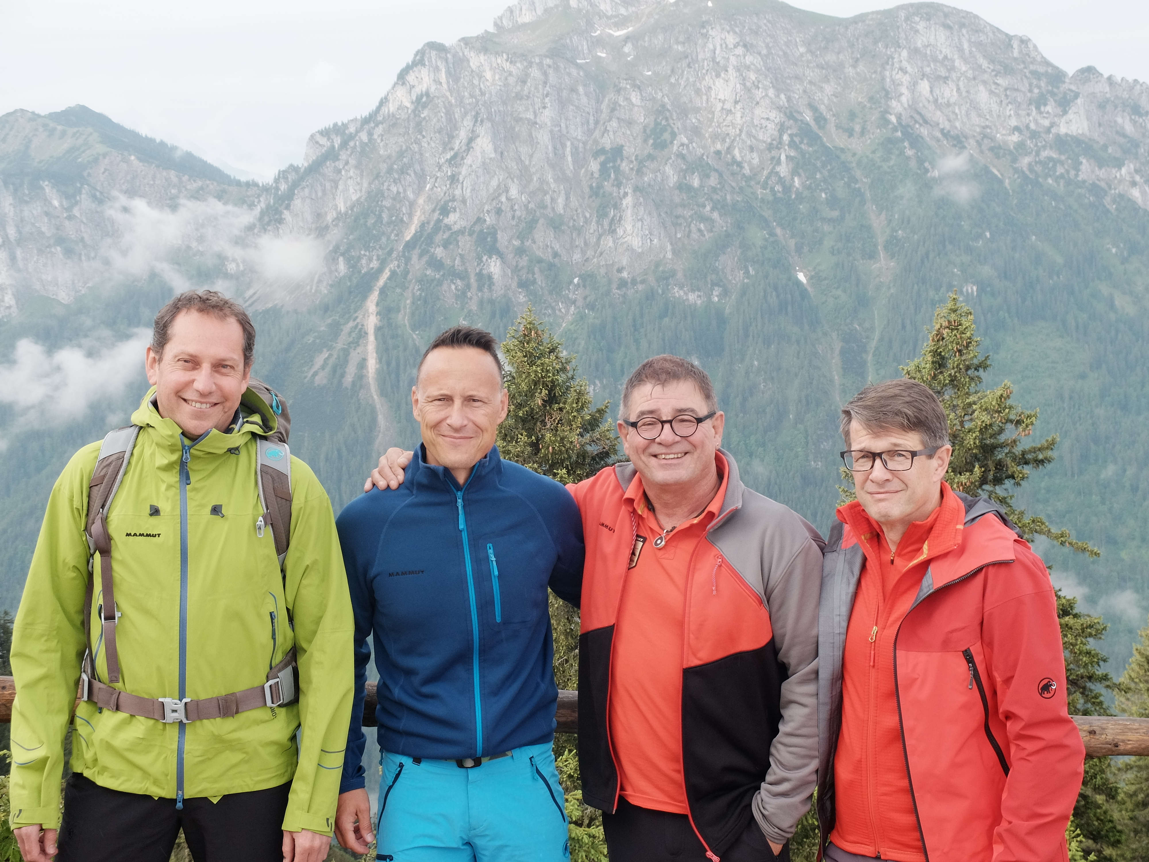 V.r.n.l.: Rolf Schmid, CEO Mammut Sports Group, Ernst Schweble, Head of Corporate Business Mammut Deutschland, Dean Polic, Country Manager Mammut Deutschland, Stefan Merkt, Chief Channel Officer Mammut Sports Group