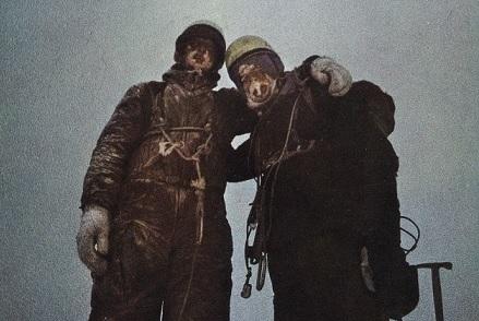 25. März 1966: Roland Votteler und Sigi Hupfauer auf dem Gipfel des Eiger