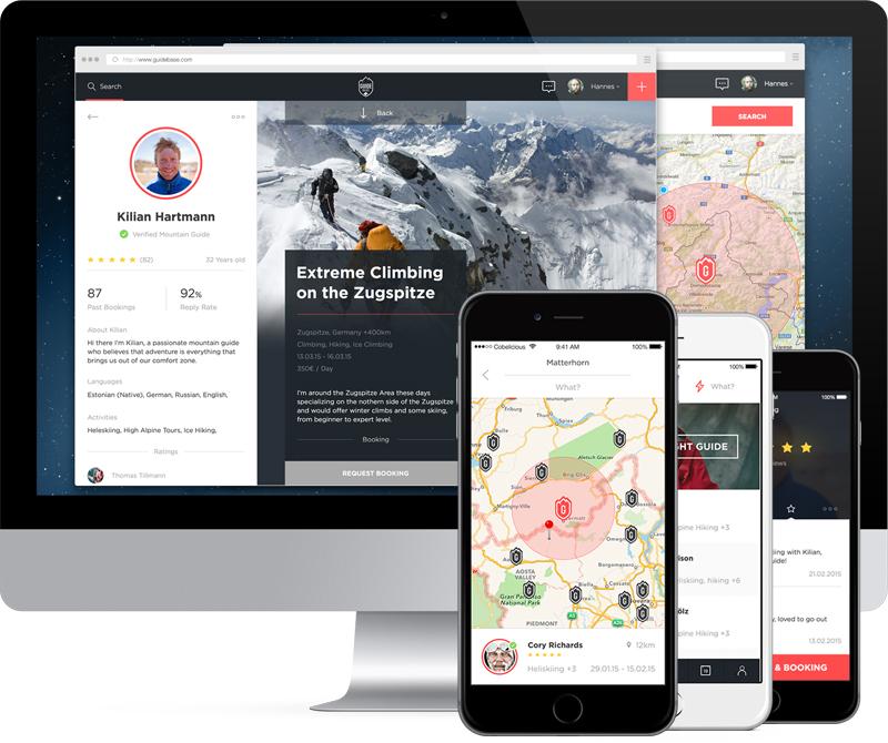 GuideBase ist das neue Buchungsportal für Bergsportaktivitäten